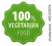 100  vegetarian food green... | Shutterstock . vector #402123574
