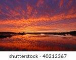 Bright Orange Sunset Sky...