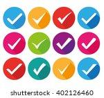 check mark flat icon | Shutterstock .eps vector #402126460