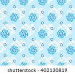 Seamless Floral Pattern Of Six...