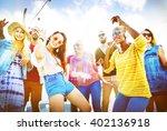 friendship dancing bonding... | Shutterstock . vector #402136918