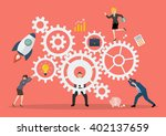 business teamwork concept with... | Shutterstock .eps vector #402137659