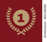 the award icon. wreath symbol.... | Shutterstock .eps vector #402138283