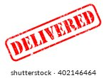 delivered rubber stamp text on... | Shutterstock . vector #402146464