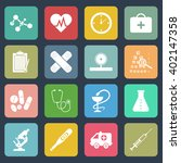 medicine icons. health. | Shutterstock .eps vector #402147358