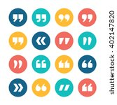 quote marks flat circle vector... | Shutterstock .eps vector #402147820