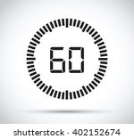 60 second timer | Shutterstock .eps vector #402152674