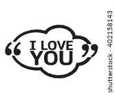 i love you lettering... | Shutterstock .eps vector #402158143