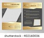 vector flyer template design....   Shutterstock .eps vector #402160036