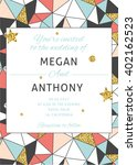 save the date invitation card.... | Shutterstock .eps vector #402162523