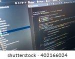 programmer developer screen.... | Shutterstock . vector #402166024