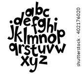 unique handwritten font style ... | Shutterstock .eps vector #402176020