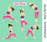 yoga element for exercise daily.... | Shutterstock .eps vector #402178750