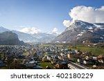 valley in liechtenstein | Shutterstock . vector #402180229
