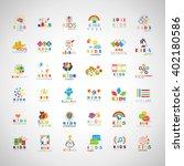 children icons set isolated on... | Shutterstock .eps vector #402180586