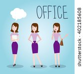set characters office team for... | Shutterstock .eps vector #402185608