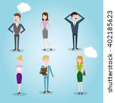 set characters office team for... | Shutterstock .eps vector #402185623