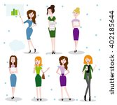 set characters office woman... | Shutterstock .eps vector #402185644
