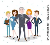 set characters office team for... | Shutterstock .eps vector #402185698