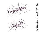 congratulations. hand lettering ... | Shutterstock .eps vector #402190924