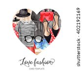 i love fashion icon  the heart... | Shutterstock . vector #402192169