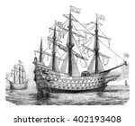 the sovereign of the seas ... | Shutterstock . vector #402193408