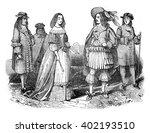 king charles ii and queen ... | Shutterstock . vector #402193510