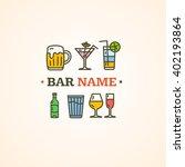 drink alcohol beverage sign.... | Shutterstock .eps vector #402193864