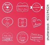 love vector badges logos | Shutterstock .eps vector #402194224