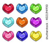 funny cartoon colorful heart...