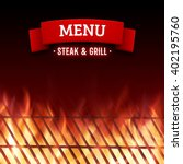 steak and grill house menu.... | Shutterstock .eps vector #402195760
