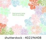 gentle flower framework for... | Shutterstock .eps vector #402196408