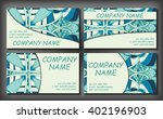 set of business card template ... | Shutterstock .eps vector #402196903