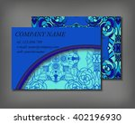 set of business card template ... | Shutterstock .eps vector #402196930