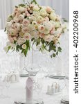 table setting at a luxury... | Shutterstock . vector #402200968
