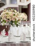 table setting at a luxury... | Shutterstock . vector #402200980