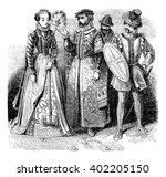 quality lady  rich merchant ... | Shutterstock . vector #402205150