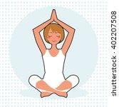 vector yoga illustration. woman ... | Shutterstock .eps vector #402207508