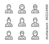 medical avatar icon set  | Shutterstock .eps vector #402213400