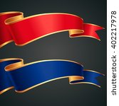 the set of red and blue ribbons ... | Shutterstock .eps vector #402217978