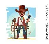Smart Cowboy Holding His Gun....