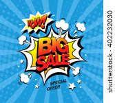 wow  big sale banner template... | Shutterstock .eps vector #402232030