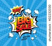 wow  big sale banner template... | Shutterstock .eps vector #402232030