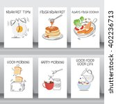 funny breakfast posters and... | Shutterstock .eps vector #402236713