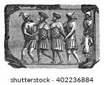 bas relief of the facts bretons