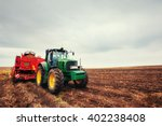 Modern Red Tractor In The...