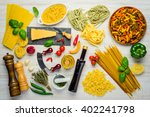 italian cuisine food pasta and... | Shutterstock . vector #402241798