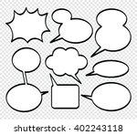 set of comics style speech... | Shutterstock .eps vector #402243118