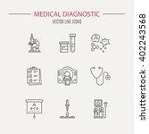 medical diagnostic vector.... | Shutterstock .eps vector #402243568
