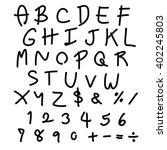 vector handwritten fonts ... | Shutterstock .eps vector #402245803
